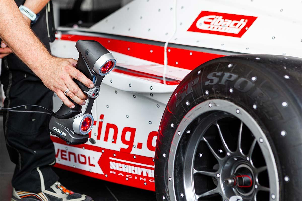 3D Scan an Formel Auto