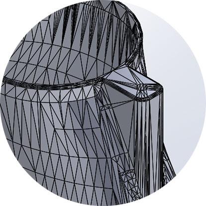 niedrigaufgelöstes 3D-Modell