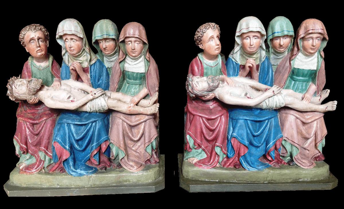 """Figuren """"Beweinungsgruppe"""" Original Und Kopie"""
