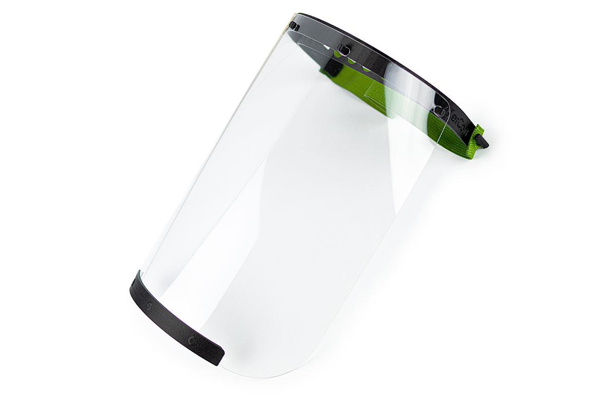 Das Kopfbandvisier schützt Ihr Gesicht ausreichend vor Spritzern, Tröpfchen und leichtem Schleifstaub.